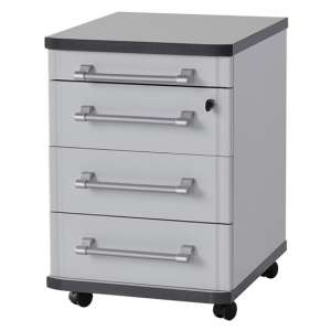 Profi Rolling Container With Drawers In Light Grey