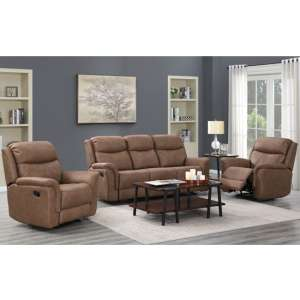 Proxima 3 Seater Sofa And 2 Armchairs Suite In Dark Taupe