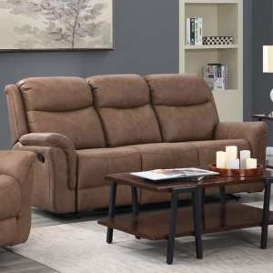 Proxima Fabric 3 Seater Sofa In Dark Taupe