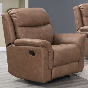 Proxima Fabric Lounge Chaise Armchair In Dark Taupe