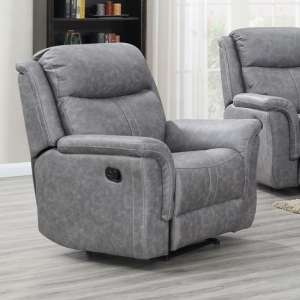 Proxima Fabric Lounge Chaise Armchair In Silver Grey