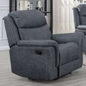 Proxima Fabric Lounge Chaise Armchair In Slate Grey