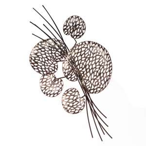 Purley Leaves Metal Wall Art In Brown And Silver