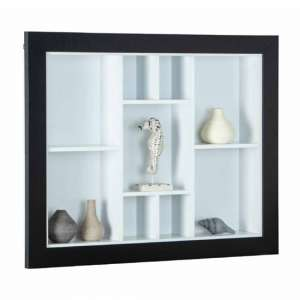 Quarium Wooden Display Cabinet In Black And White