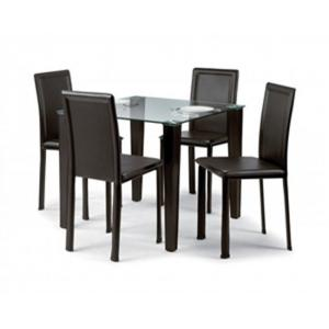 Quattro Glass Dining Set And 4 Chairs
