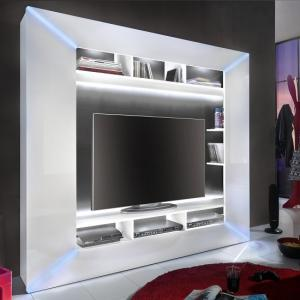 Oliver Entertainment Unit In White Gloss Fronts And LED Lighting_3