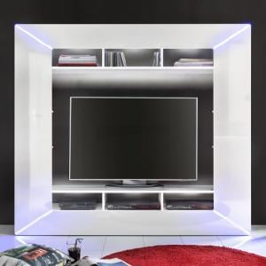 Oliver Entertainment Unit In White Gloss Fronts And LED Lighting_2