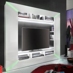 Oliver Entertainment Unit In White Gloss Fronts And LED Lighting_5