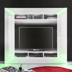 Oliver Entertainment Unit In White Gloss Fronts And LED Lighting_6