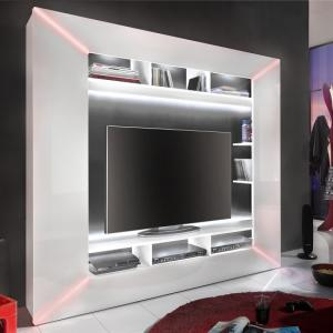 Oliver Entertainment Unit In White Gloss Fronts And LED Lighting_7