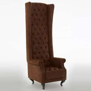 Radisson Tall Porter Chair In Brown With Wooden Legs