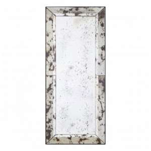 Raze Black Splash Effect Wall Mirror In Antique Silver Frame