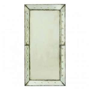 Raze Large Bubble Effect Wall Mirror In Antique Brass Frame