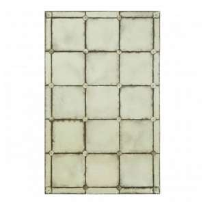 Raze Mosaic Effect Wall Bedroom Mirror In Antique Brass Frame