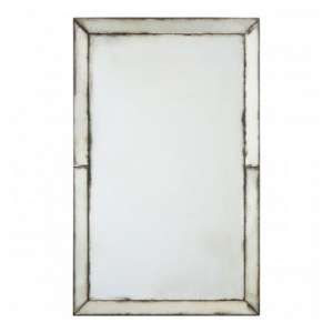 Raze Splash Effect Wall Bedroom Mirror In Antique Silver Frame
