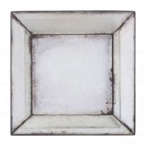 Raze Square Bevelled Wall Mirror In Antique Silver Frame
