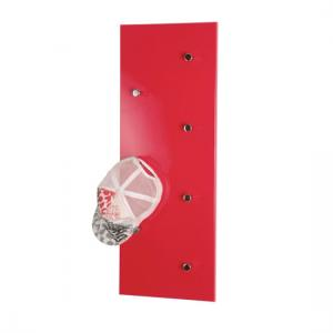 Wall Mounted Red Coat Rack In High Gloss