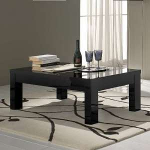 Regal Coffee Table Rectangular In Black With High Gloss Lacquer