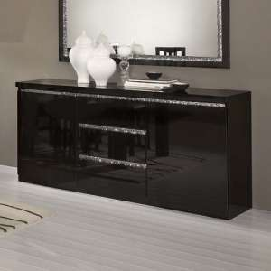 Regal Sideboard In Black With Gloss Lacquer