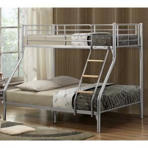 Regency Children Metal Bunk Bed In Silver