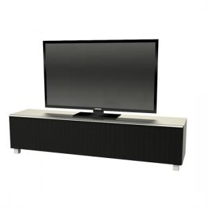 Reginy Modern TV Stand In Stainless Steel Effect Glass