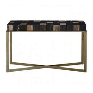 Relics Console Table In Multicolour With Stainless Steel Frame