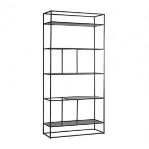 Retiro Display Unit In Antique Silver With Black Metal Frame