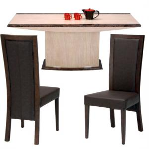 Retro Marble Dining Table With 6 Chairs