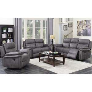 Richmond 3 Seater Sofa And 2 Armchairs Suite In Graphite Grey