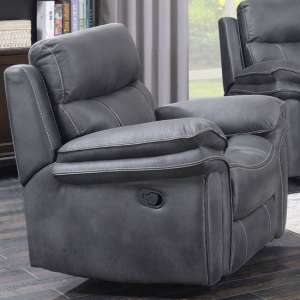 Richmond Fabric Recliner Sofa Chair In Charcoal Grey