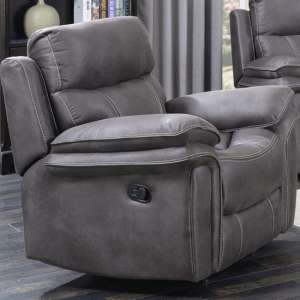 Richmond Fabric Recliner Sofa Chair In Graphite Grey