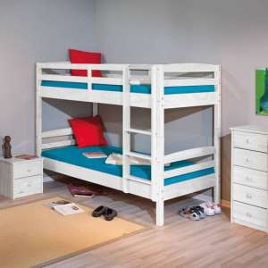 Rick Wooden Bunk Bed In White