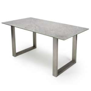 Rocca Ceramic And Glass Dining Table With Steel Base
