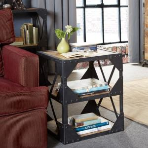 Romarin Side Table In Reclaimed Wood And Metal Frame_1 ... Part 98