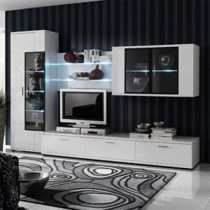 Corona Modern Room Set In White High Gloss