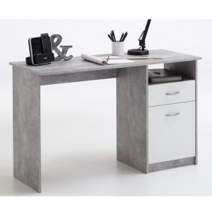 Rosemary Contemporary Computer Desk In Light Atelier And White