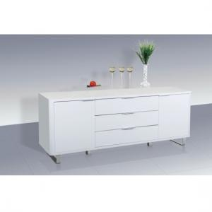 Roseta Sideboard In White High Gloss With 2 Doors And 3 Drawers
