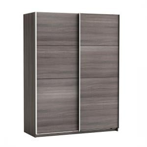 Rossett Wooden Wardrobe Large In Vulcano Oak And Linen