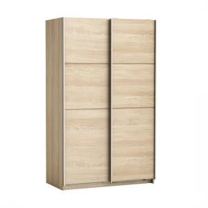 Rossett Wooden Sliding Wardrobe In Shanon Oak And Linen