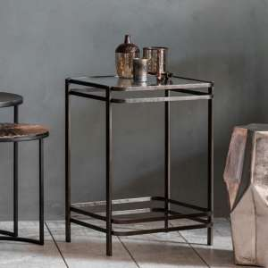 Rousham Glass Side Table With Metal Base