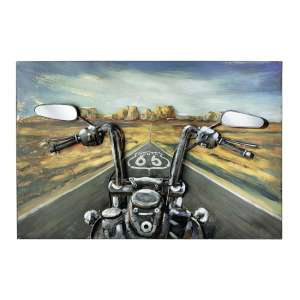 Route Through USA Picture Metal Wall Art In Multicolor