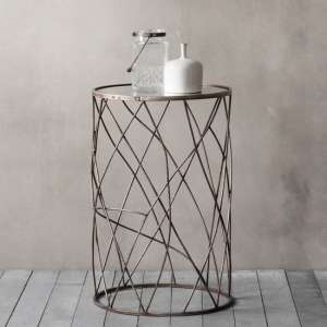 Rowell Glass Side Table In Bronze