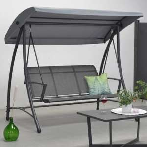 Rubins 3 Seater Swing Seat In Carbon Black