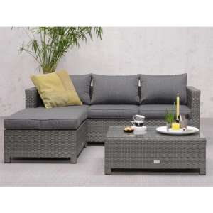Rudesole Sofa Group With Coffee Table In Organic Grey