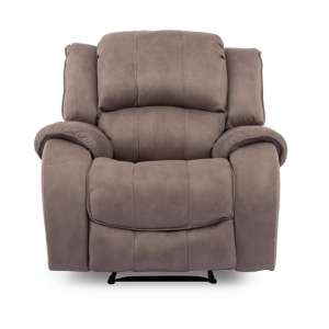 Ryan Recliner Textured Fabric Arm Chair In Smoke Finish