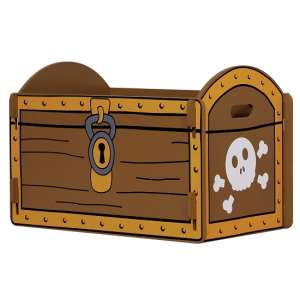 Rylee Pirate Treasure Chest In Yellow And Brown