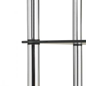 2 Tier End Table In Black Glass With Chrome Legs_4