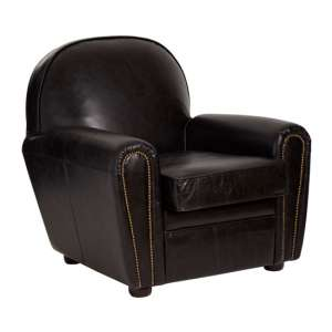 Sadalmelik Classic Faux Leather Armchair In Black