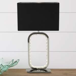 Sadr Crystal Glass Detail Table Lamp With LED Base