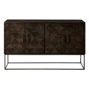 Nosaxa Wooden Sideboard In Grey With 4 Doors